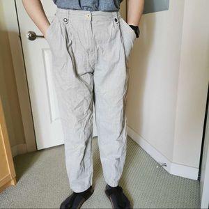 High waisted gingham pants